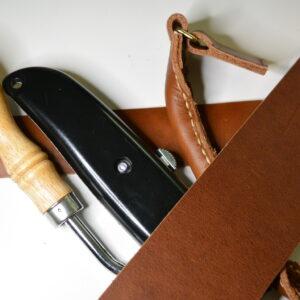 Spötub av läder för split cane